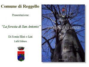 Comune di Reggello Presentazione La foresta di San