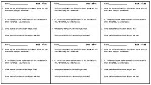Name Exit Ticket Name Exit Ticket 1 What