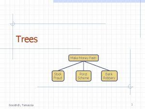 Trees Make Money Fast Stock Fraud Goodrich Tamassia