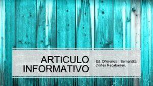 Ed Diferencial Bernardita Corts Recabarren CMO PUEDO ESCRIBIR