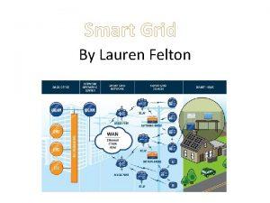 Smart Grid By Lauren Felton The electric grid