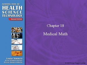 Chapter 18 Medical Math 2009 Delmar Cengage Learning