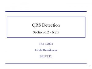 QRS Detection Section 6 2 6 2 5