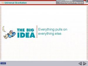 13 Universal Gravitation Everything pulls on everything else