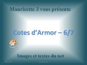 Mauricette 3 vous prsente Cotes dArmor 67 Images
