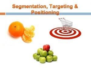 Segmentation Targeting Positioning Segmentation Targeting Positioning Concept of