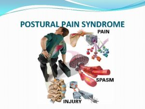 POSTURAL PAIN SYNDROME Definition Postural pain syndrome is