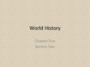 World History Chapter Five Section Two Literature History