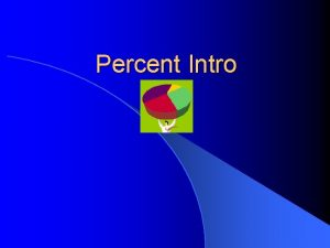 Percent Intro Definition l Percent can be defined