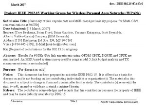 IBM Research March 2007 doc IEEE 802 15