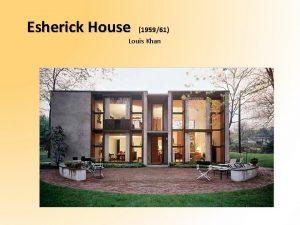 Esherick House 195961 Louis Khan Pianta piano terra