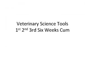 Veterinary Science Tools 1 st 2 nd 3