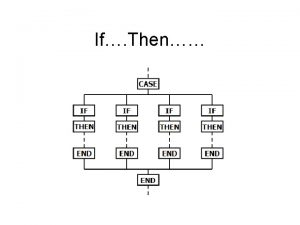 If Then If then If then Conditional Statements