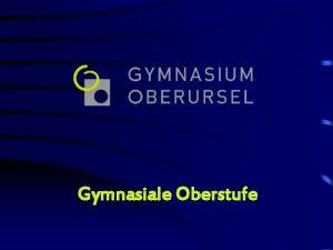 Gymnasiale Oberstufe Gymnasium Oberursel Mgliche Abschlsse Allgemeine Hochschulreife