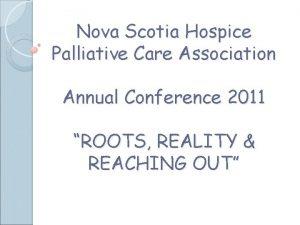 Nova Scotia Hospice Palliative Care Association Annual Conference