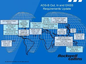 ADSB Out In and GNSS Requirements Update US
