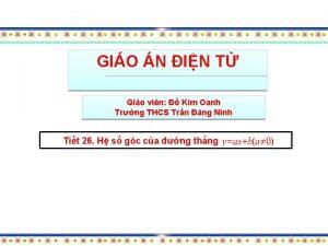 GIO N IN T Gio vin Kim Oanh