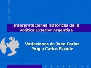 Interpretaciones histricas de la Poltica Exterior Argentina Variaciones