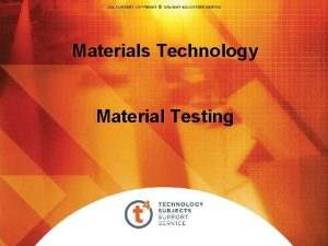 Materials Technology Material Testing Overview Testing Materials Hardness