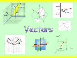 Introduction This chapter focuses on vectors Vectors are