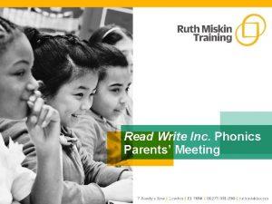 Read Write Inc Phonics Parents Meeting Understanding Phonics