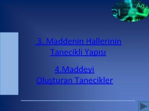 3 Maddenin Hallerinin Tanecikli Yaps 4 Maddeyi Oluturan