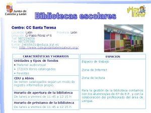 Centro CC Santa Teresa Localidad Len Provincia Len