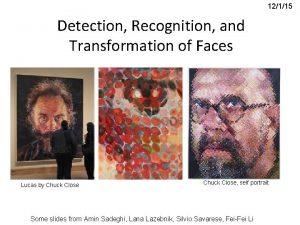 Understanding Faces Detection Recognition and Transformation of Faces