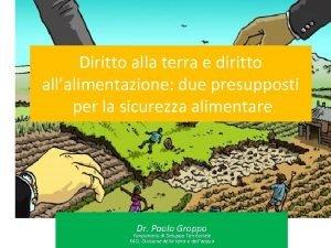 Diritto alla terra e diritto allalimentazione due presupposti