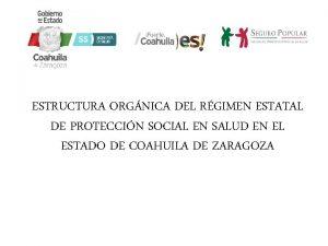 ESTRUCTURA ORGNICA DEL RGIMEN ESTATAL DE PROTECCIN SOCIAL