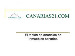 CANARIAS 21 COM El tabln de anuncios de