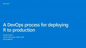 A Dev Ops process for deploying R to