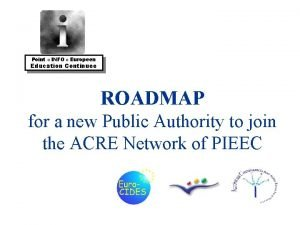 Point INFO Europeen Education Continuee ROADMAP for a
