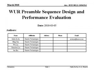 March 2018 doc IEEE 802 11 180435 r