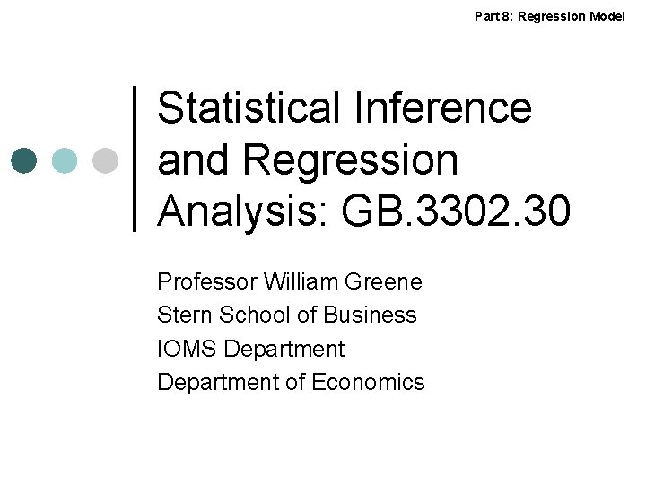 Part 8 Regression Model Statistical Inference and Regression