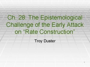 Ch 28 The Epistemological Challenge of the Early