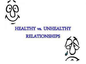 HEALTHY vs UNHEALTHY RELATIONSHIPS Relationship Scenarios instructions There