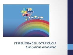 LESPERIENZA DELLEXTRASCUOLA Associazione Arcobaleno LESPERIENZA DELLEXTRASCUOLA Associazione Arcobaleno