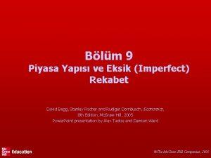 Blm 9 Piyasa Yaps ve Eksik Imperfect Rekabet