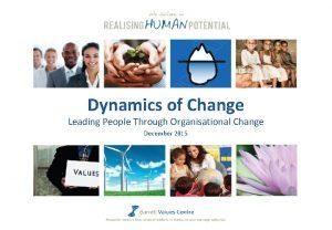 Dynamics of Change Leading People Through Organisational Change