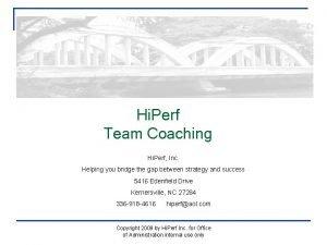 Hi Perf Team Coaching Hi Perf Inc Helping