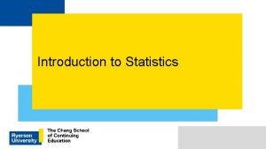 Introduction to Statistics How do we define statistics