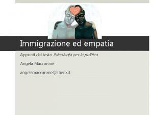 Immigrazione ed empatia Appunti dal testo Psicologia per