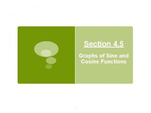 Section 4 5 Graphs of Sine and Cosine