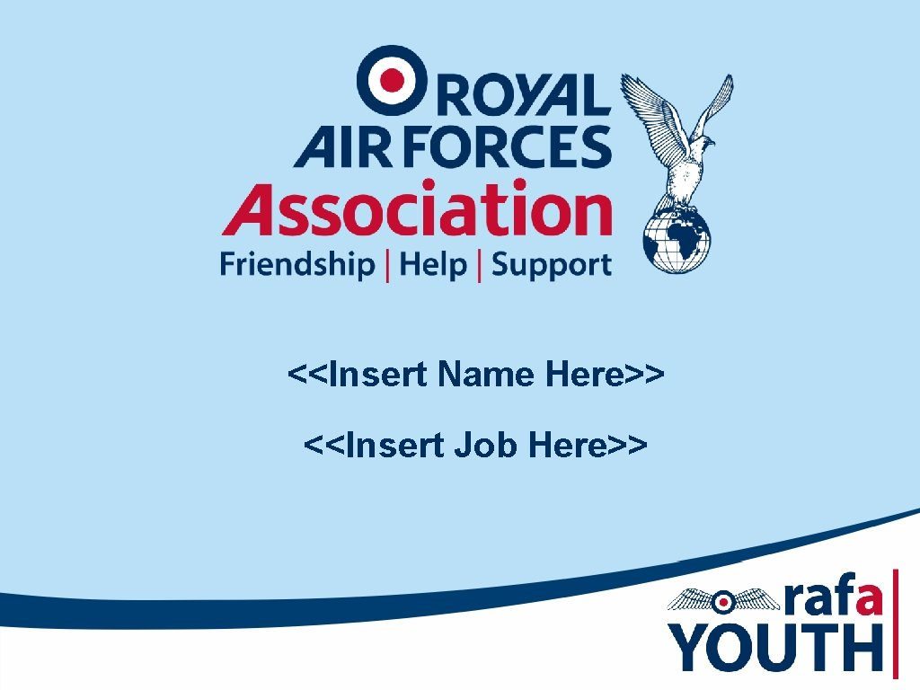 Insert Name Here Insert Job Here The RAF