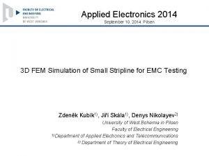 Applied Electronics 2014 September 10 2014 Pilsen 3