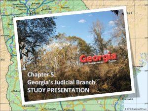 Chapter 5 Georgias Judicial Branch STUDY PRESENTATION 2010