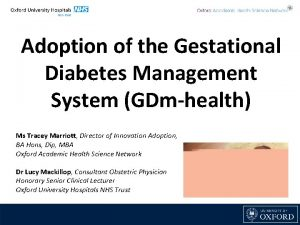 Adoption of the Gestational Diabetes Management System GDmhealth