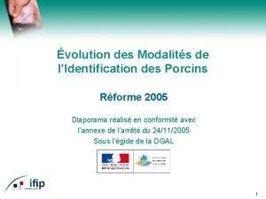 volution des Modalits de lIdentification des Porcins Rforme