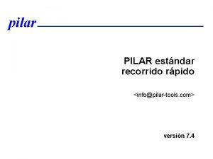 pilar PILAR estndar recorrido rpido infopilartools com versin
